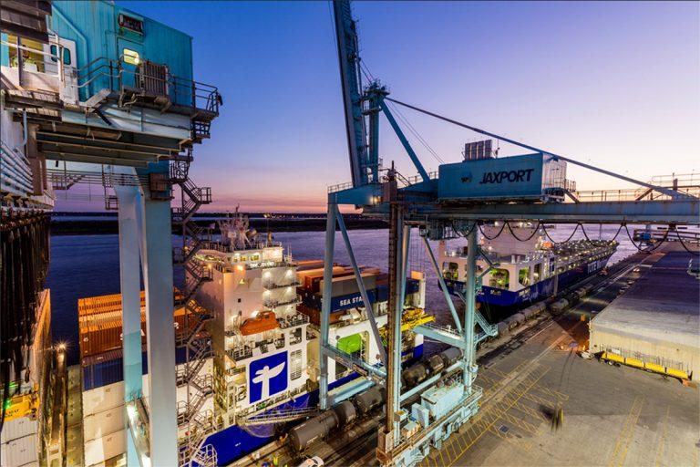 TOTE Marine cargo ships Port of Jacksonville Florida